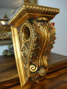 Wandkonsole Barock Gold Konsole Antik Luxus Wandregal Jugendstil Ablage Edel NEU