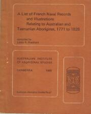 List of French Naval Records & Illustrations Relating to Australian and Tasmania