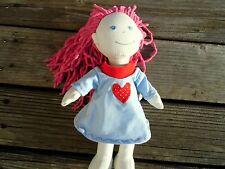 KLEIDUNG Nachthemd für HABA Puppe Lilli Nele Elisa Gr. 30 Wichtel blau + rot NEU