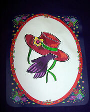 3X PURPLE T SHIRT FOR RED HAT LADIES OF SOCIETY W/ RED HAT PURPLE GLOVES FLOWERS