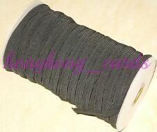 """= 5 yards 3/8"""" BLACK Classic Elastic Stretch Tape Sewing Sew-on (+ free 1 ft)"""
