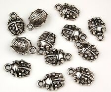 20 Ladybug Tibetan Zinc Alloy Lead Free Loose Jewelry Making Beads Charms