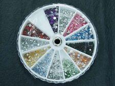1800 MIXED SHAPES FLAT BACK RHINESTONE WHEEL nail art crystal diamonte craft