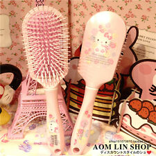 Cartoon Pink Hello Kitty Women Hair Brush Girl Hair Care Head Massage Brush Gift