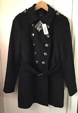 Forever 21 New Small Size, Wool Blend, Black Winter Coat