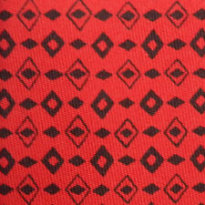 HERMES Sharp! Red Aztec Arrowhead Native American Silk Neck Tie France 7528 IA