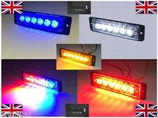 LED Super Thin Warning Light, Colours RED, BLUE, WHITE, AMBER, BLUE/RED RRP £50
