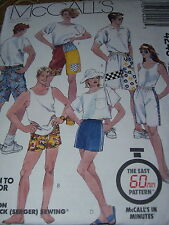 McCALL'S #4240-MEN'S or LADIES ( 60 MINUTE - LEARN TO SEW ) SHORTS PATTERN MEDuc