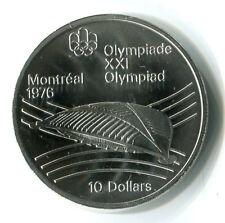 10 Dollars Kanada 1976 Olympiade Montreal 1976 Stadion Silber ST M_391