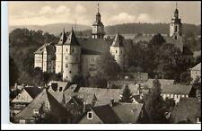 Schleusingen Thüringen DDR Postkarte 1958 Partie an der Bertholdsburg Burg Türme