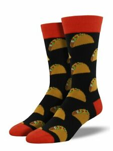 Socksmith Men's Novelty Crew Socks, MNC524 Tacos - Black