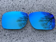 ETCHED POLARIZED ICE BLUE MIRRORED REPLACEMENT OAKLEY HOLBROOK LENSES