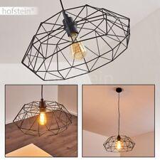 Lampe à suspension noire PLafonnier Retro Lampe pendante Lustre de salon Acier