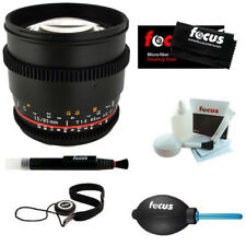 ROKINON 85mm T1.5 Cine Aspherical Lens for Canon EF Mount + Acces Kit - CV85M-C