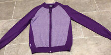 GLENMUIR Ladies Zip Through Golf Sweater / Jumper Size S - UK 8 100% Cotton VGC