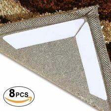 Reusable 8pcs Rug Carpet Mat Grippers Ruggies Curling Slip Washable Grips W