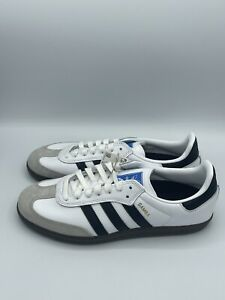 adidas Samba Adv Retro Men's Lace Up Sneakers Casual Shoes White Gum Trainers