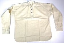 CIVIL WAR US UNION CSA CONFEDERATE FOUR BUTTON OFF WHITE MUSLIN SHIRT-MEDIUM