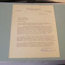 1964 Reading Railroad President E.P. Gangewere Autograph Signed Letter Vintage