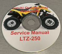 2004-2009 Suzuki QuadRunner LTZ-TZ-250 Factory Service Repair Manual on CD