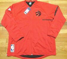 ADIDAS NBA AUTHENTIC TORONTO RAPTORS RED ON COURT JACKET SIZE 2XL