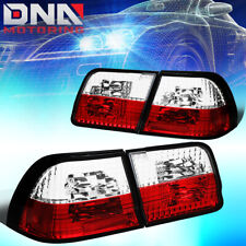 FOR 1995-1996 NISSAN MAXIMA RED/CLEAR LENS TAIL LIGHT REAR BRAKE/REVERSE LAMPS