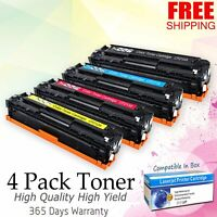 4PK Toner Cartridge CF210A Set for HP 131A LaserJet Pro 200 Color M251nw M276nw