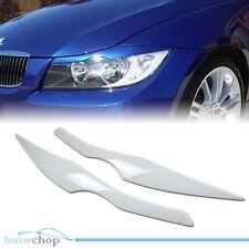 Painted BMW E90 Sedan 3-Series Headlight Eyelids Eyebrows 06 #300 White