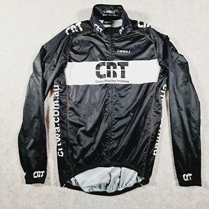 TINELI Mens Black White CYCLING Performance Jersey Jacket Size Large