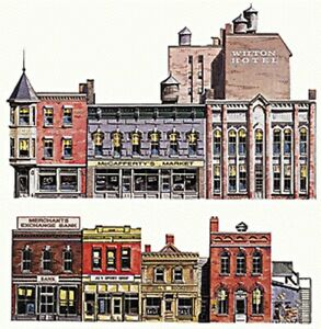 Walthers SceneMaster - Instant Buildings -- Main Street Stores - HO