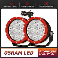 New Pair 5 inch OSRAM SPOT LED Driving Lights Round Off Road 4x4 Spotlight Flood