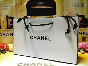 "*☾1 PCS☽ CHANEL Classic Black & White Paper Gift/Shopping Bag~☾Size:""24x7x14""CM☽"