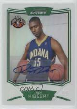 2008-09 Bowman Draft Picks & Stars Chrome Refractor /50 Roy Hibbert Rookie Auto