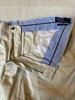 "Polo Ralph Lauren 40 x 9.5"" Beige Classic Fit Pima Cotton 5 Pocket Chino Shorts"