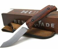 * BENCHMADE Wood SADDLE MOUNTAIN Plain Fixed Blade Knife LEATHER Sheath 15001-2