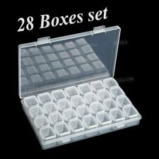 28 slots boxes set organizer storage containers case for DIY Nail art rhinestone