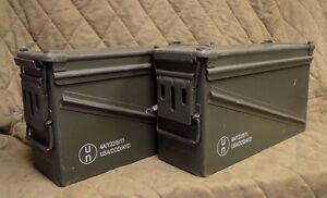 2 PACK MILITARY 40MM, BA30, PA120 AMMO CAN VERY GOOD CONDITION * FREE SHIPPING*