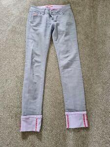 Superdry Skinny Jeans In Grey/lavender Sz 27W-32L EUC