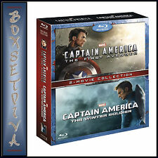 CAPTAIN AMERICA & CAPTAIN AMERICA THE WINTER SOLDIER ***BRAND NEW BLU-RAY  **
