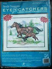 Needle Treasures Keepin' Up Eye Catchers Large Count Cross Stitch Kit Horse Foal