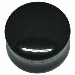 Darkside Black Acrylic Double Flared Flesh Plug - 44mm
