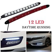 2X 12 LED Car DRL Daytime Running Head Light Daylight Waterproof Signal Lamp
