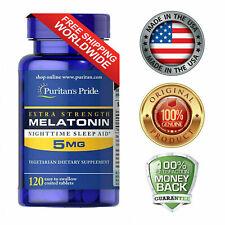Puritan's Pride Extra Strength Melatonin 5 mg 120 Tablets Vegetarian Sleep Aide