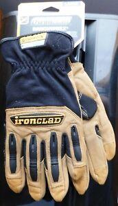 Ironclad Ranchworks Genuine Bullwhip Leather Gloves Size Large