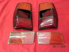 RENAULT 6  front & taillight lenses  4 PIECES NEW RECENTLY MADE