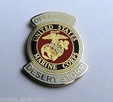 US Marine Corps Marines USMC Desert Storm Veteran Lapel Pin Badge 1 inch
