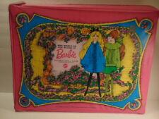 6 pre-owned Barbie dolls in Barbie case - case copyright 1968