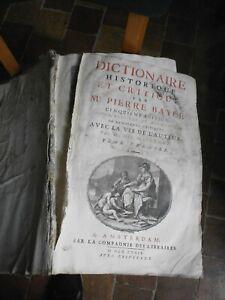 Dictionnaire historique et critique Pierre Bayle 5ème edition 1733