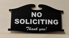 No Soliciting Home Door Plaque Sign - Laser engraved sign