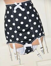 NIX B - Big silky control panties, 6 suspenders, BN, XL